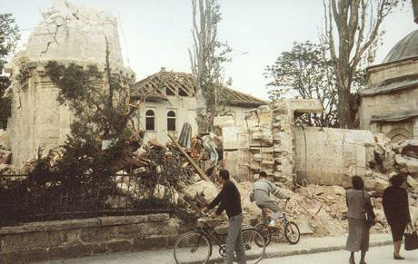 1. Banja Luka.Ferhadija Mosque.destroyed.May 1993.jpg