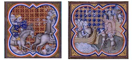 Battles between moors and Christians in the Middle Ages