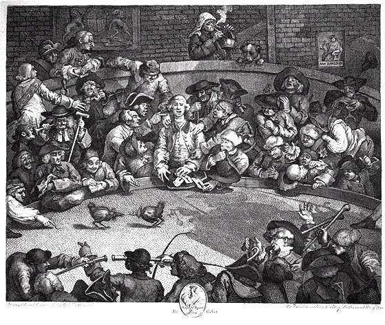 The cock-pit by Hogarth