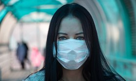 Russian girl in mask