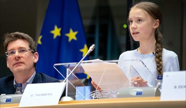 Thunberg in European Parliament