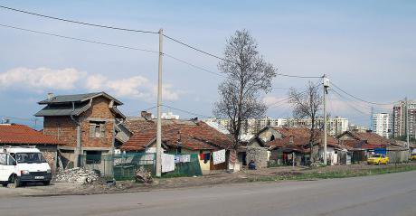 A Roma ghetto in Bulgaria. Ukraine's GDP per capita is half of Bulgaria's.