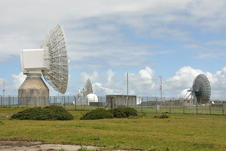 Satellite dishes at GCHQ Bude.