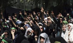 Tehran Friday prayers protesters