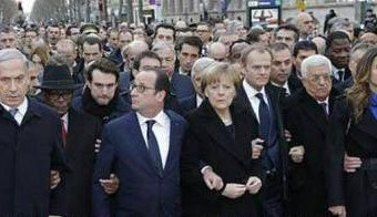 World leaders pose for the cameras in Paris.