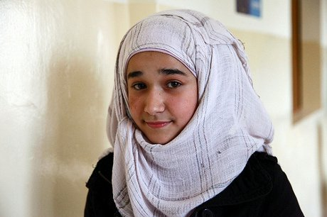 Syrian refugee girl in Lebanon