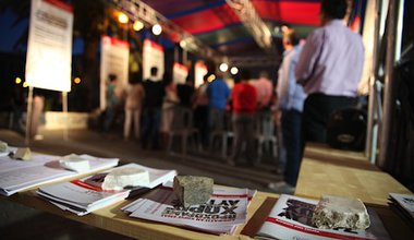 At the Syriza polling center during the May 2012 Greek elections. Demotix/Daphne Tolis. All rights reserved.