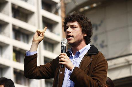 Noam Titelman, Chile student protest leader. Demotix/Mario Tellez. All rights reserved.