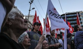 A Syriza rally in Athens. Demotix/Federico Scoppa. All rights reserved.