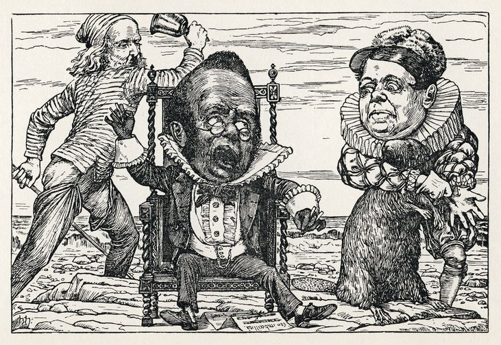 "The Banker's Fate from Henry Holiday's original illustrations to ""The Hunting of the Snark"" by Lewis Carroll. (1876"