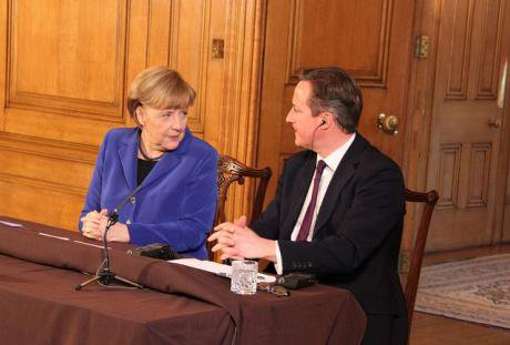 Press conference with Angela Merkel and David Cameron, 2014