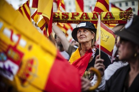 A pro-unity demonstration in Barcelona. Demotix/Luis Tato. All rights reserved.