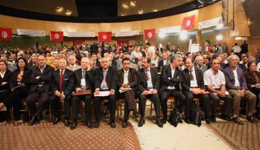 'National dialogue' talks initiated by the UGTT, Tunis, 2013.