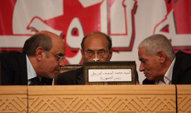 'National dialogue' talk held in Tunis initiated by the UGTT, 2012.Demotix/Chedly Ben Ibrahim. All rights reserved.