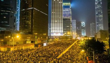 Hong Kong's umbrella revolution on September 30, 2014.