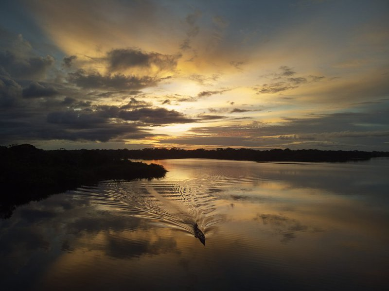 Sunset over Tarapoto Lake