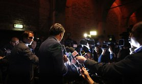 Matteo Renzi, the 38 year old Mayor of Florence, embodies a new generation of Italian politicians. Demotix/Federico Scoppa. All rights reserved.
