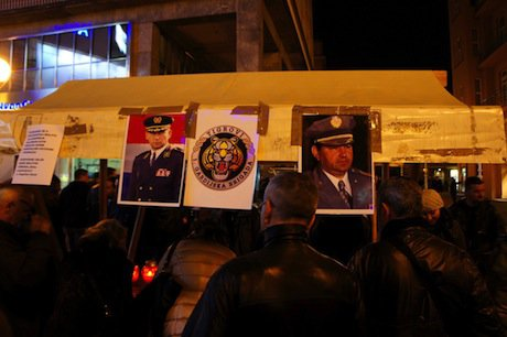 Croatians rally to support Ante Gotovina. Demotix/Alen Gurović. All rights reserved.