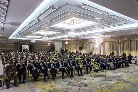 Preparing for the National Dialogue conference in San'aa's presidential palace, 2012.