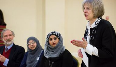 Theresa May at al-Madina mosque