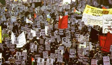 February 15, 2003, antiwar protest, London.