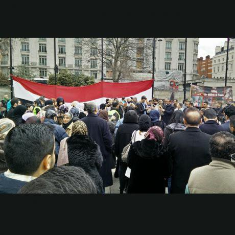 Hands off Yemen protest, April 2015.
