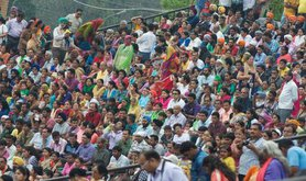 Indian crowd scene, 2015.
