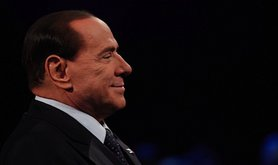 "Silvio Berlusconi appears on Italian TV show ""Servizio Pubblico"". Demotix/Giacomo Quilici. All rights reserved."
