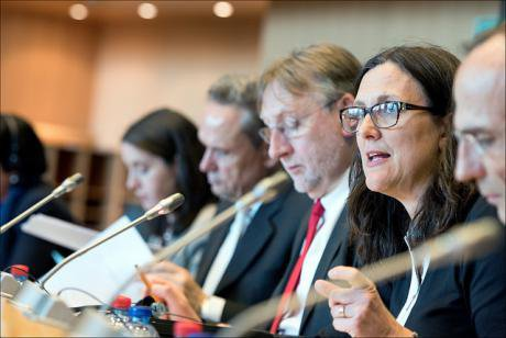 Commissioner Malmström, an unelected official with the European Parliament who is overseeing the TTIP negotiations.