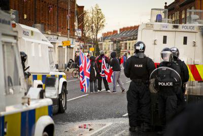 Riots after flag protests, Belfast, 2013. Demotix / Mariusz Smiejek