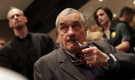 Defeated presidential candidate Karel Schwarzenberg. Demotix/Tomas Hajek. All rights reserved.