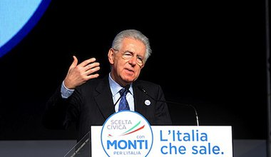 Mario Monti speaks at a campaign rally. Demotix/Ermes Beltrami Vincenzi. All rights reserved.