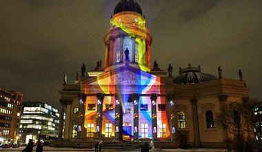 A light show to celebrate 50 years of the Elysée Treaty in Berlin. Demotix/Reynaldo C. Paganelli. All rights reserved.