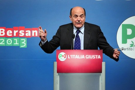 PD leader and possible future Italian prime minister Pierluigi Bersani. Demotix/Eidon Photographers. All rights reserved.