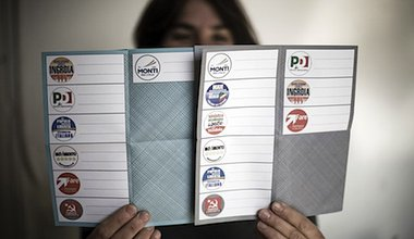 Ballot papers for Italians living abroad. Demotix/Paco Serinelli. All rights reserved.