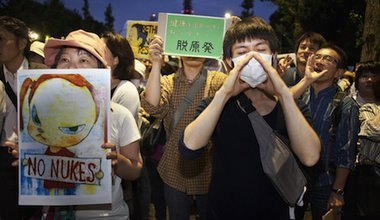 Anti-nuclear protesters in Tokyo. Demotix/Lucas Vallecillos. All rights reserved.