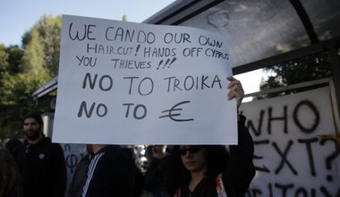 Protest against haircut in Cyprus