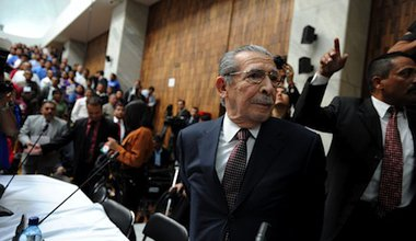Ex-Guatemalan dictator Rios Montt goes on trial for genocide. Demotix/Hiroko Tanaka. All rights reserved.