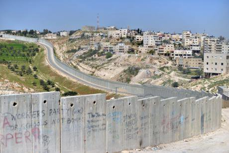 Separation wall in Bethany.