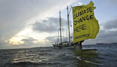 Greenpeace sailing ship