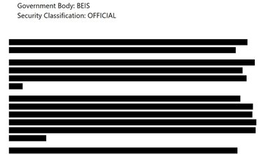 Redacted page from 1 April report by SPI-B subcommittee of Scientific Advisory Group for Emergencies (SAGE)