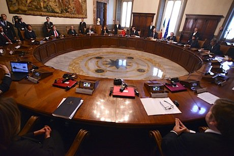 The Letta government in Palazzo Chigi in Rome. Demtix/Simona Granati. All rights reserved.