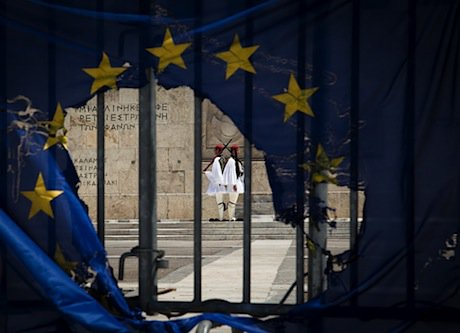 During a May Day protest in Athens. Demotix/Savvas Karmaniolas. All rights reserved.