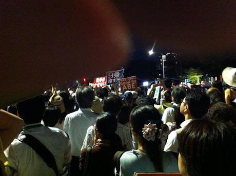 Protests against the security bills, Tokyo. Author's own. All rights reserved.