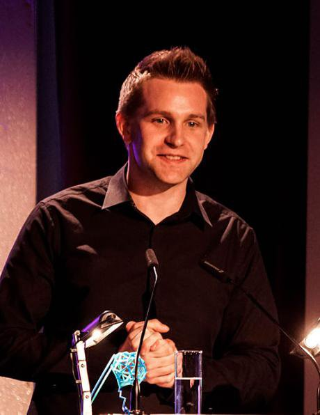 Max Schrems receives a 'digital courage' award for challenging 'Safe Harbour', April 2015.