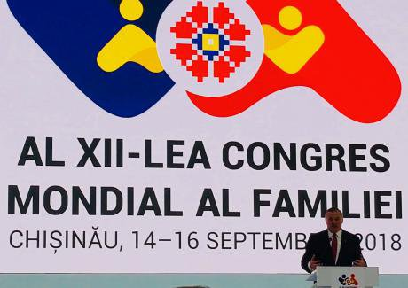 Brian Brown, President of the International Organisation for the Family (IOF), speaking at the World Congress of Families.