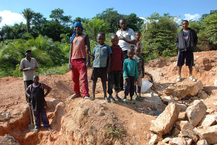 Child labour is involved in mining for rare earths and minerals in Congo.