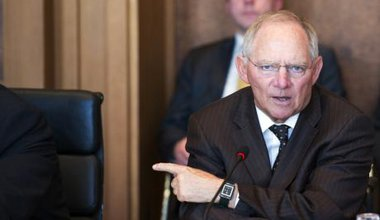 German Finance minister Schauble speaking on 'Strong Euro - strong Europe', 2013.
