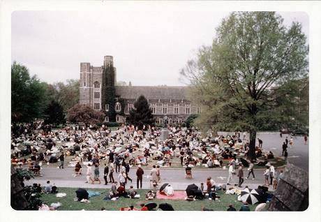Silent demostration in Duke University