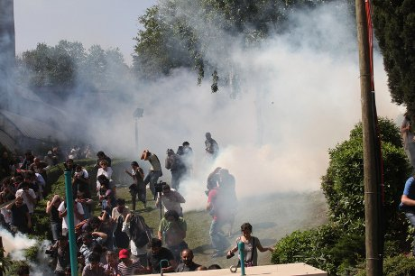 Gas in Gezi Park
